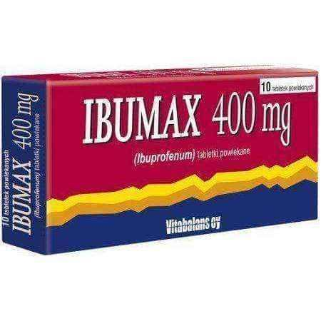 IBUMAX 400mg x 10 tablets UK