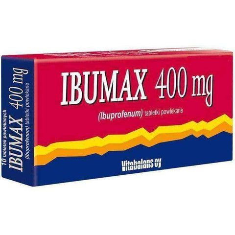 IBUMAX 400mg x 30 tablets, ibuprofen 400