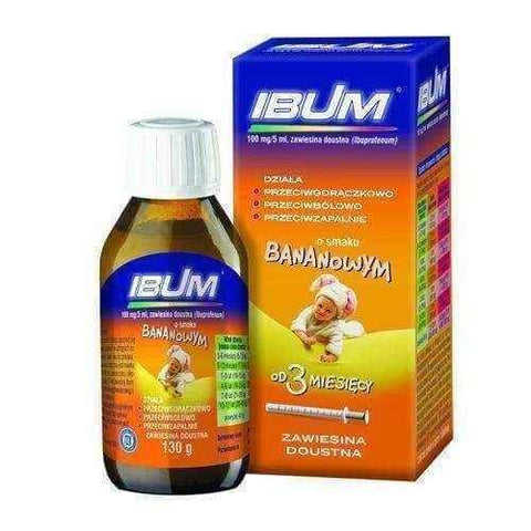 IBUM 0.1g / 5ml suspension 130g sm. banana, baby teething, muscle pain, joint pain