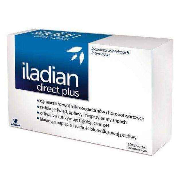 ILADIAN Direct Plus x 10 vaginal tablets, bacterial vaginosis UK