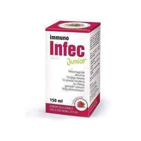 IMMUNOINFEC JUNIOR syrup 150ml, children aged 3+ immune system boosters