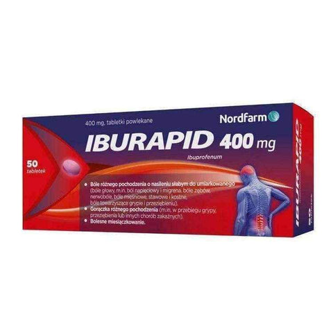 Iburapid 0.4g x 50 tablets, ibuprofen