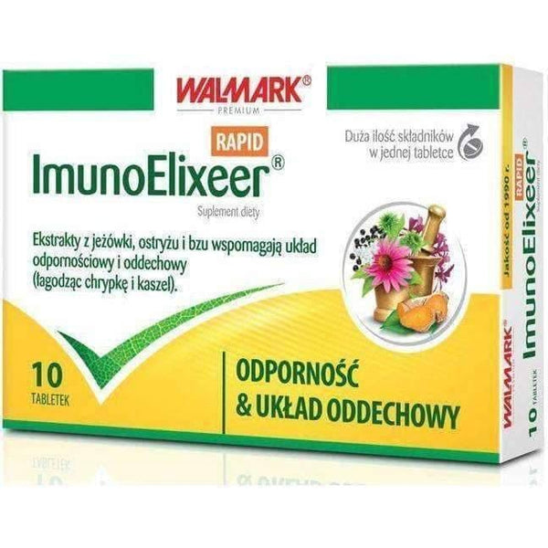 ImunoElixeer RAPID x 10 tablets, immune system diseases UK