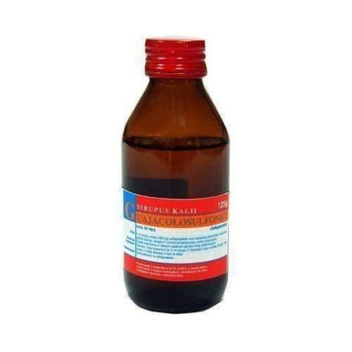 KALI GUAJACOLSULFONICI syrup 125g bronchitis, bronchial asthma and pertussis booster