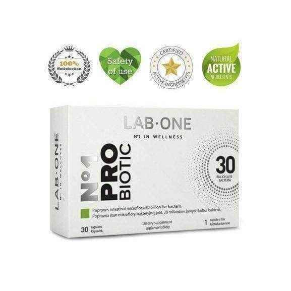 LAB ONE x 30 PROBIOTIC CAPSULES.