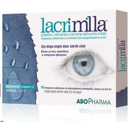 LACRIMILLA drops for red and tired eyes 10 single doses of 0.5 ml.
