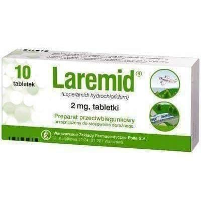 LAREMID (loperamide) x 10 tabl. acute and chronic diarrhea