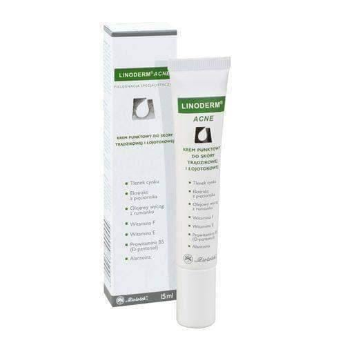 LINODERM Acne Cream 15ml Eliminates caused acne and prevents new ones