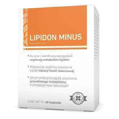 LIPIDON MINUS x 60 capsules, how to lose belly fat fast.