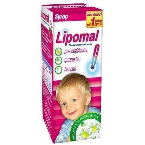 LIPOMAL syrup 125g diaphoretic in fevers associated with colds, inflammation of the throat and cough