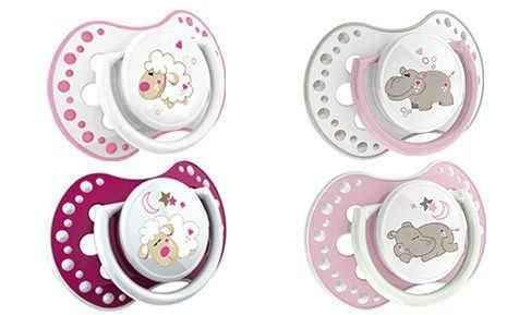 LOVI Dynamic silicone teether Night & Day (6-18 months) x 2 pieces 22/811 girl.