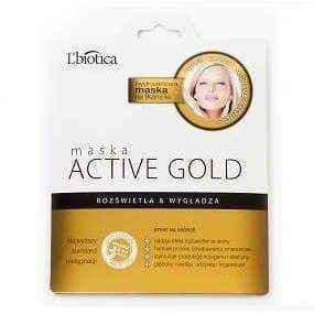 L'Biotica Active Gold Mask on fabric 25g, GOLD FACE MASK