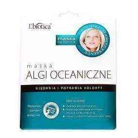 L'Biotica mask ocean algae in the form of cloth soaked with 23ml, FACEMASK