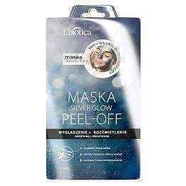 L'Biotica Silver Glow mask peel-off smoothing and lighting 10g, peel off face mask