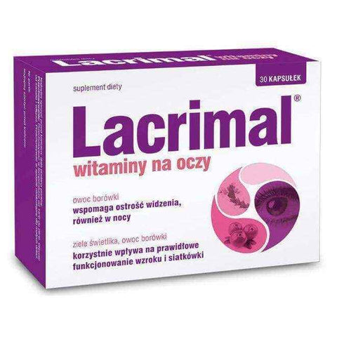 Lacrimal Vitamins Eye x 30 capsules, vitamins for eye health