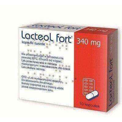 Lacteol Fort 340mg x 10 capsules.