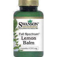 SWANSON Full Spectrum Lemon Balm 500 mg capsules x 60.
