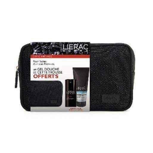 Lierac Homme Kit Premium Anti-wrinkle Lotion 40ml + Shower Gel 200ml gift.
