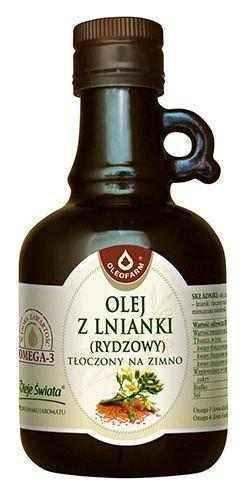 Linseed oil (rydzowy) cold pressed 250ml - ELIVERA