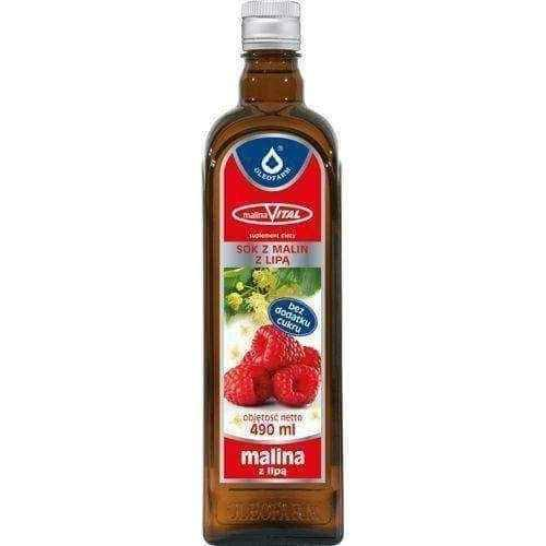 MALINAVITAL RASPBERRY 100% juice with raspberry 490ml