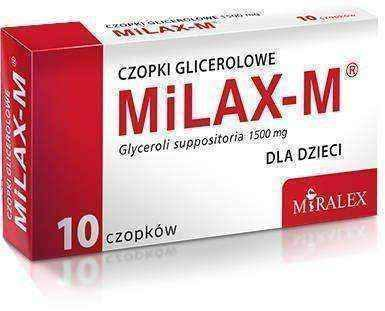 MILAX M glycerol suppositories x 10 pieces