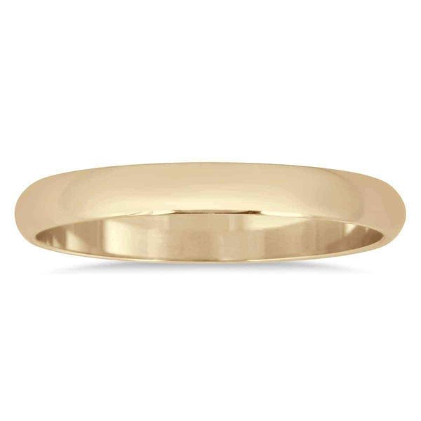 10k Yellow Gold Domed Wedding Band