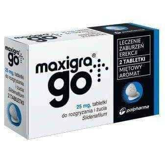 Maxigra Go 25mg x 2 tablets chewable, erection