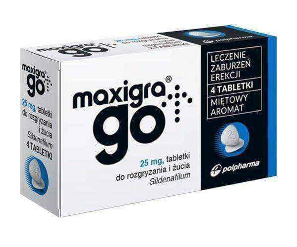 Maxigra Go 4 tablets 25mx for erectile dysfunction