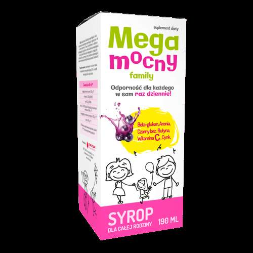 Megamind FAMILY syrup 190ml, beta glucan supplement, lilac extract, immune system supplements 1+