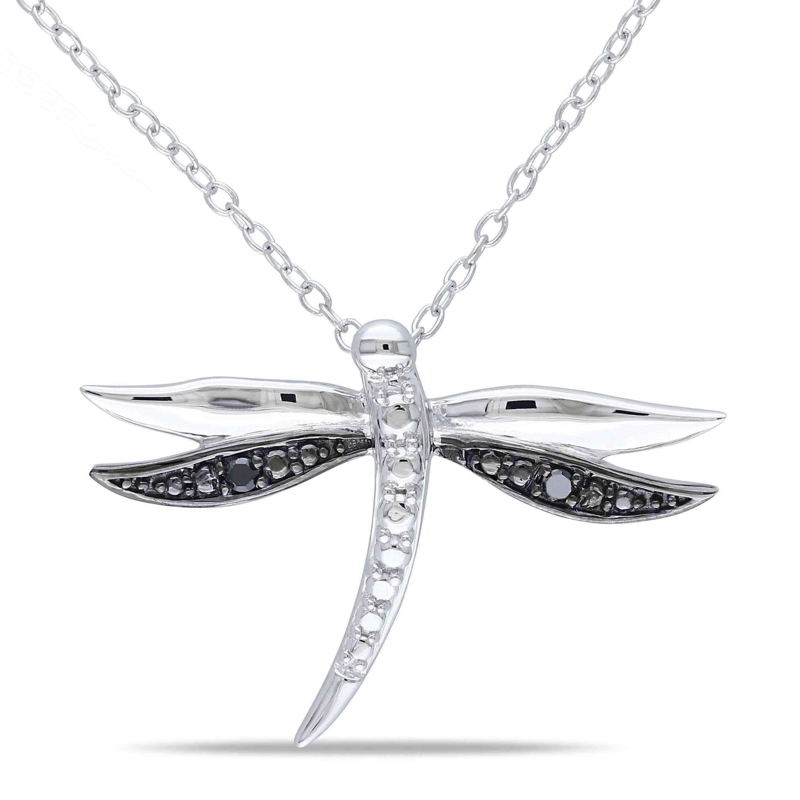 af pendant inch silver sterling open jewelry necklace dragonfly bling winged