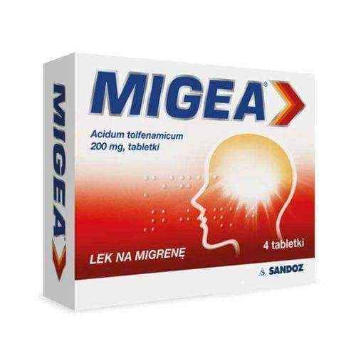 Mige 200mg x 4 pills, migraine relief