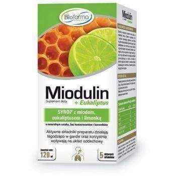 Miodulin C syrup with honey 120ml 12+ immune system boosters.