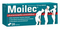 Moilec 7.5mg x 20 tablets, meloxicam UK