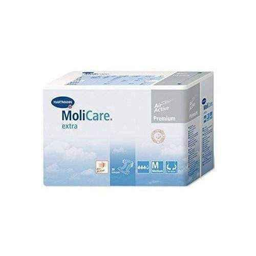 MoliCare Premium Extra Soft diapers XS x 30 pieces.