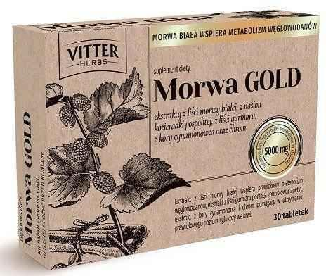 Mulberry GOLD Vitter Herbs x 30 tablets, Morwa gold - ELIVERA