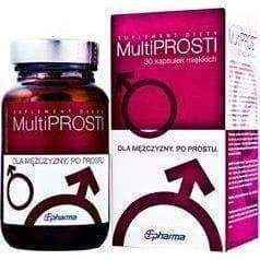 MultiProsti x 30 capsules, sex foods, male labido, male performance enhancers UK