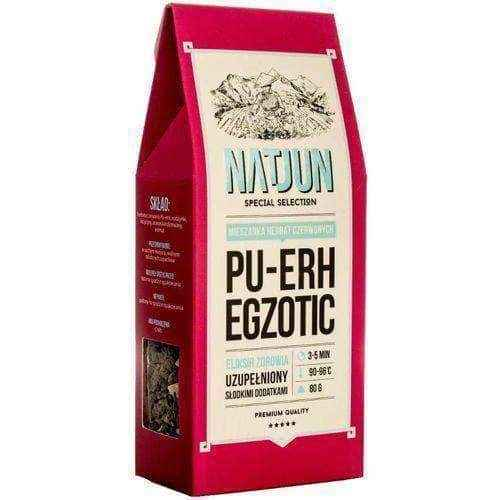 NATJUN Red Tea Pu-erh Egzotic 80g, red tea benefits