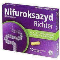 NIFUROKSAZYD Richter 200mg x 12 tablets.