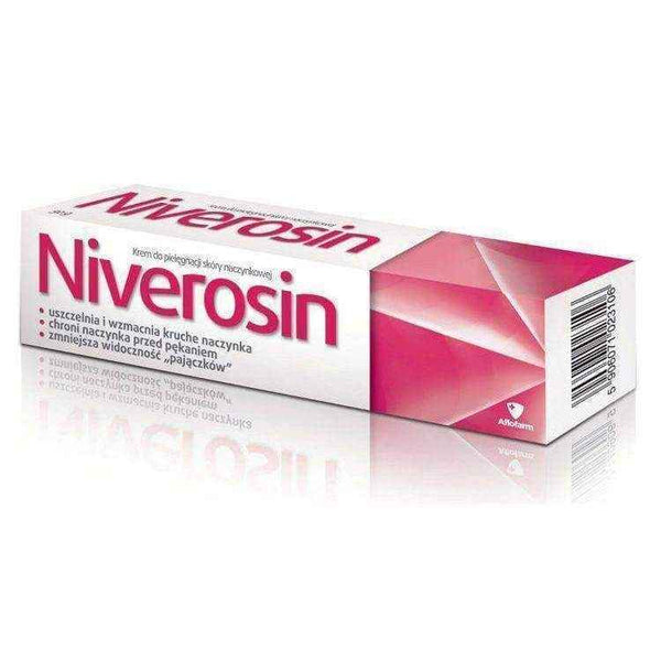 NIVEROSIN cream nourishing the skin capillaries 50g, blood vessels of the body - ELIVERA UK, England, Britain, Review, Buy