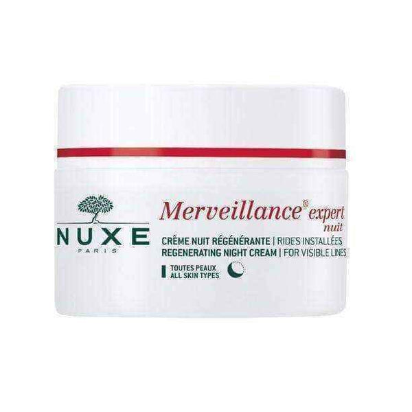 NUXE Merveillance expert Nuit regenerating night cream reduces visible wrinkles 50ml.