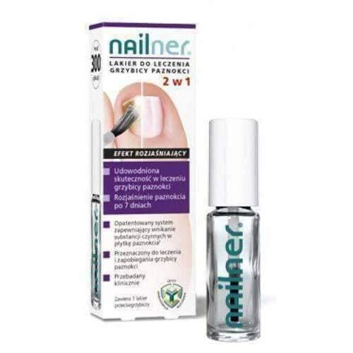 Nailner lacquer for treating onychomycosis 2in1 5ml fungal nail infection