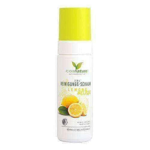 Natural cleansing foam 3 in one with lemon and lemon balm 150ml