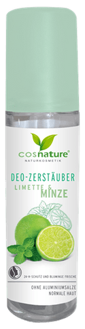 Natural deodorant spray, lime and mint 75ml