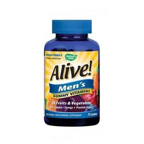 Nature's Way - Alive - jelly multivitamins for men 100 mg 75 tablets.