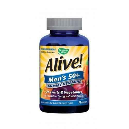 Nature's Way - Alive - jelly multivitamins for men 50+ 94 mg 75 tablets, Nature's Way Alive Men's Gummy Multivitamins.