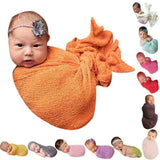 Newborn Baby Photography Props Soft Swaddle Knit Stretch Wrap Blanket