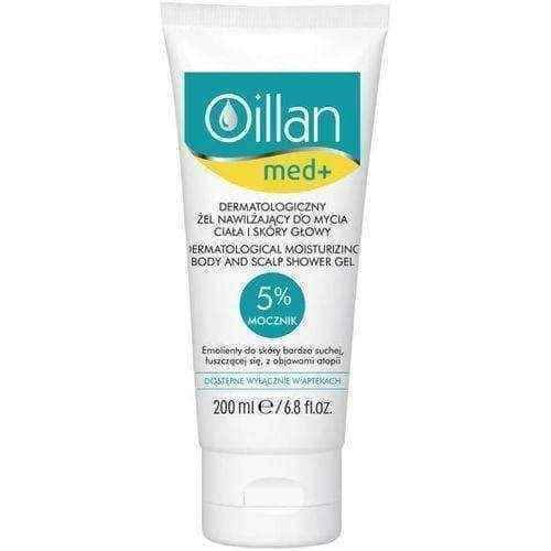 OILLAN Med+ Dermatological moisturizing gel for washing the body and scalp 200ml.