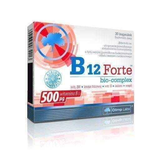 OLIMP B12 Bio-Complex Forte x 30 capsules blood coagulation. Prevents anemia UK