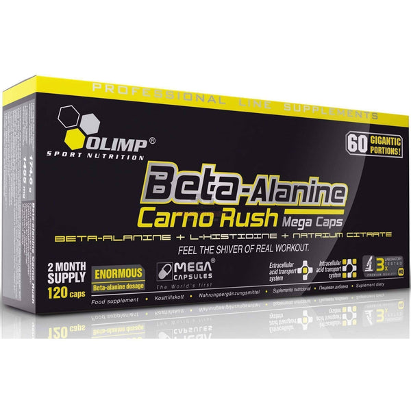 OLIMP BETA-ALANINE CARNO RUSH & XPLODE beta alanine 20 tabs without box