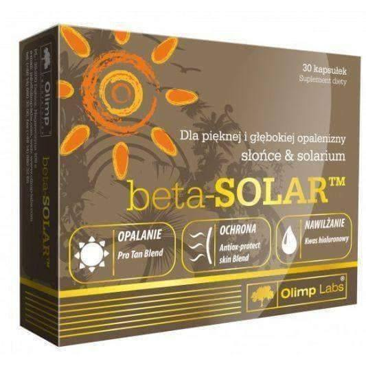 OLIMP Beta-Solar x 30 capsules a faster way to achieve the desired dark skin tone
